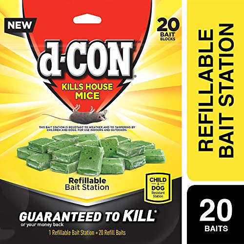 D-Con Corner Fit Bait Station and Bait Refills