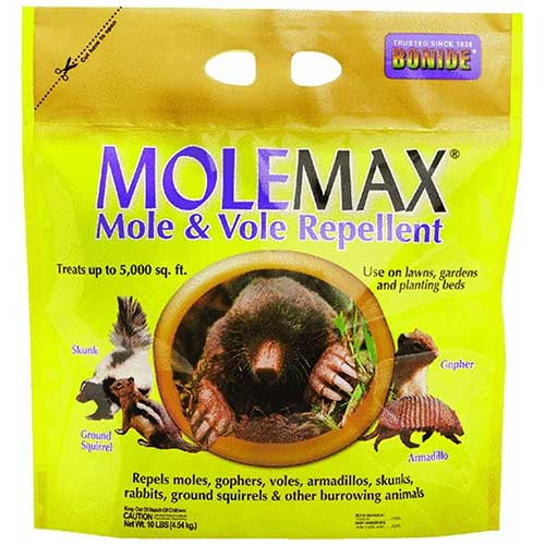 molemax mole and vole burrowing animal repellent