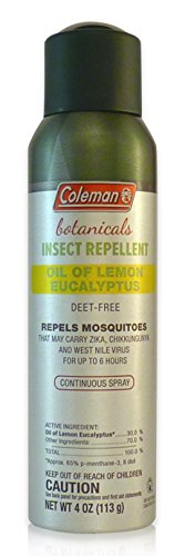 Coleman DEET-Free Insect Repellent with Lemon Eucalyptus