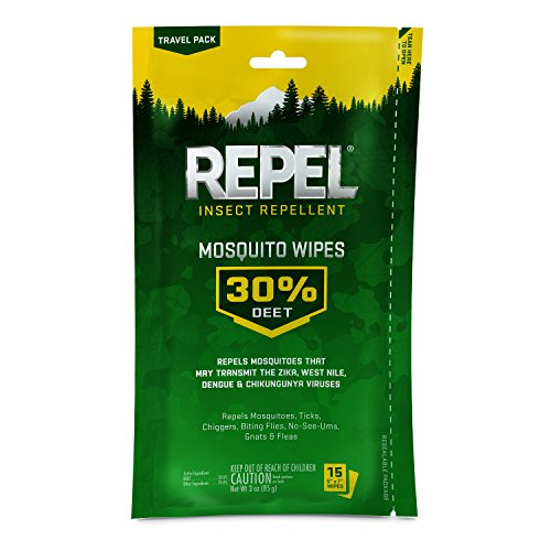 Repel Insect Repellent Mosquito Wipes with DEET