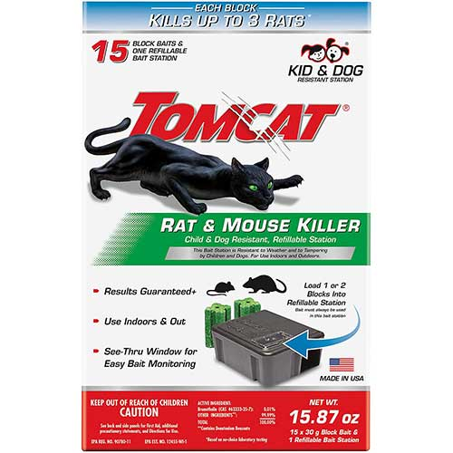 Tomcat refillable rat bait station