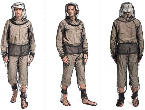 no-see-um and mosquito repellent bug suit with hood and jacket