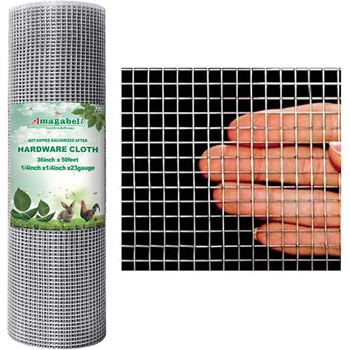 steel mesh to seal up decks and sheds from raccoons