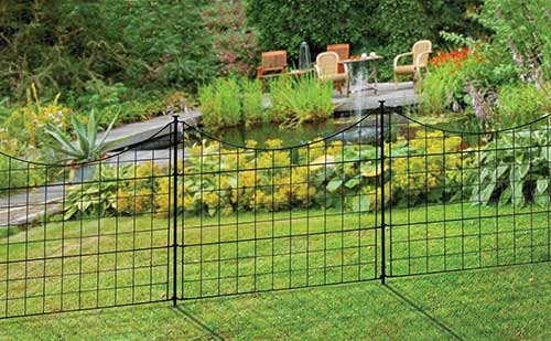 metal-garden-fence-to-keep-groundhogs-out