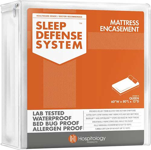 sleep defense system mattress encasement for bed bugs