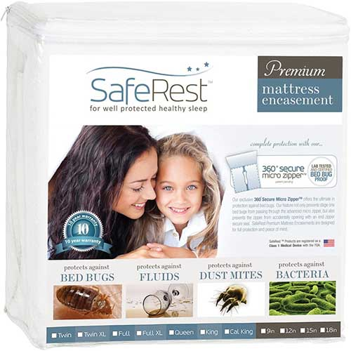 zipper mattress encasement for bed bugs