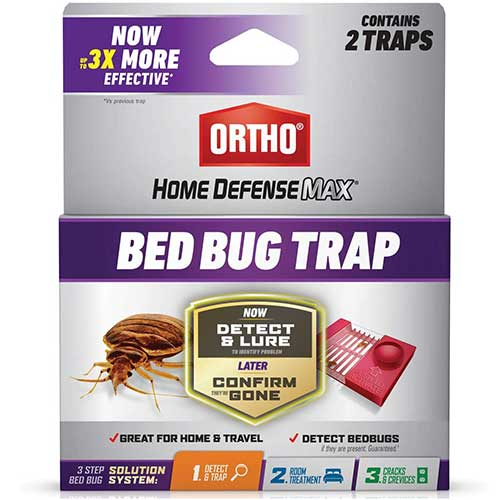 ortho home defense max bed bug trap to detect and kill bed bugs